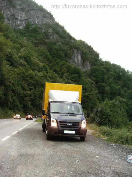 Bútorszállítás, költöztetés Montenegróba.