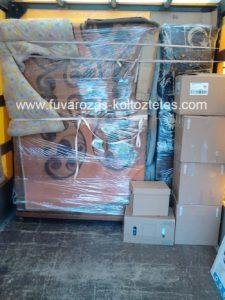 Antik bútorok költöztetése, csomagolással.