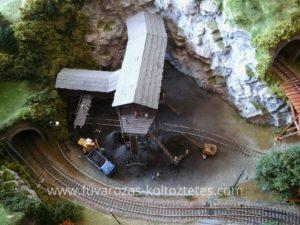 Terepasztal közelről... a bányában.